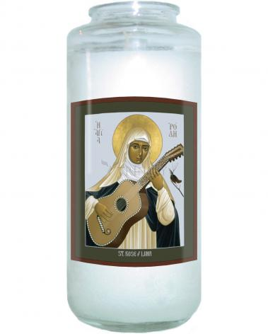Devotional Candle - St. Rose of Lima by R. Lentz