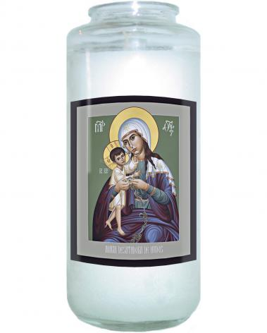 Devotional Candle - Mary, Undoer of Knots - Spanish by R. Lentz