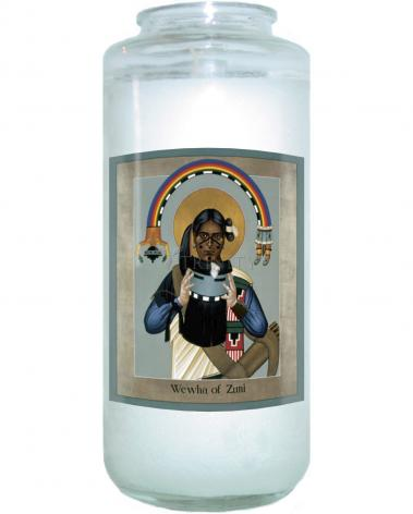 Devotional Candle - We-wha of Zuni by R. Lentz