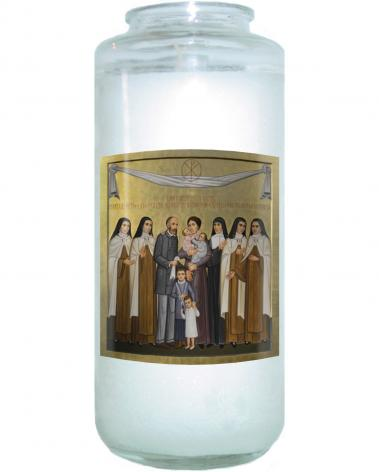 Devotional Candle - Sts. Louis and Zélie Martin with St. Thérèse of Lisieux and Siblings by P. Orlando