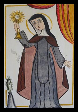 Giclée Print - St. Clare of Assisi by A. Olivas