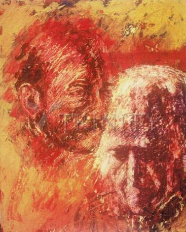 Giclée Print - Heart of Ignatius on Mind of Arrupe by B. Gilroy
