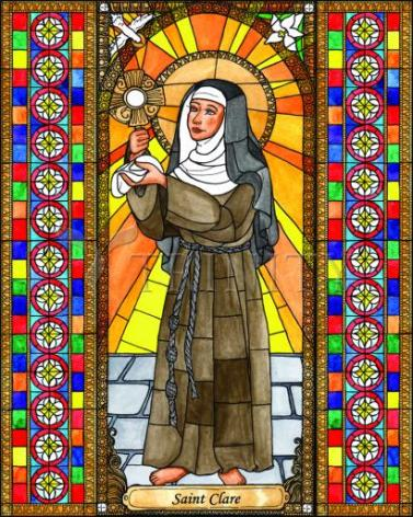 Giclée Print - St. Clare of Assisi by B. Nippert