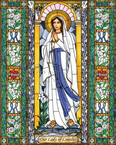 Giclée Print - Our Lady of Lourdes by B. Nippert