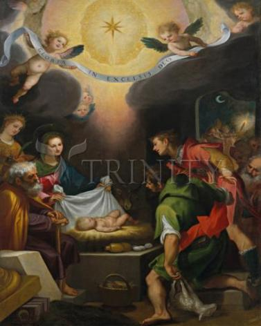 Giclée Print - Adoration of the Shepherds with St. Catherine of Alexandria by Museum Art
