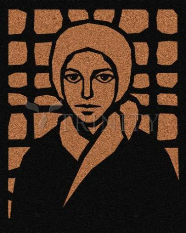 Giclée Print - Bernadette of Lourdes - Brown Glass by D. Paulos