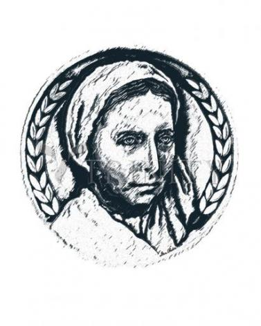 Giclée Print - Bernadette of Lourdes - Pen and Ink by D. Paulos