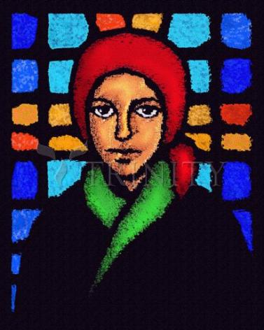 Giclée Print - Bernadette of Lourdes - Stained Glass by D. Paulos