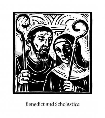 Giclée Print - Sts. Benedict and Scholastica by J. Lonneman