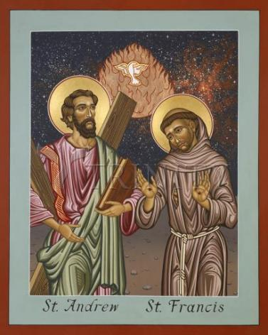 Giclée Print - Sts. Andrew and Francis of Assisi by L. Williams