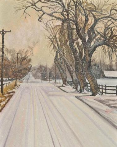 Giclée Print - Christmas Scene: Montrose, CO by L. Williams