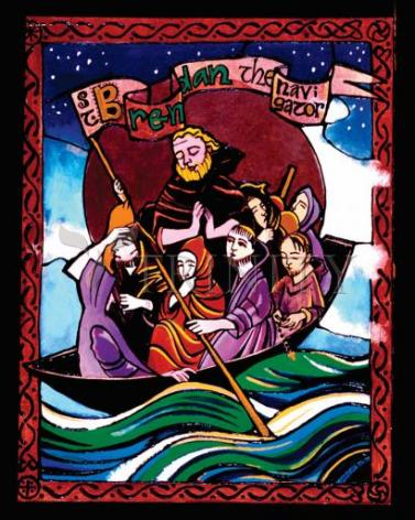 Giclée Print - St. Brendan the Navigator by M. McGrath
