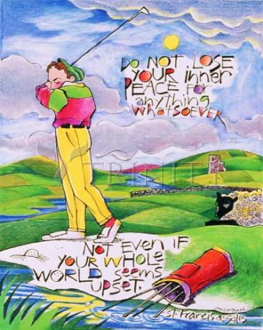 Giclée Print - Golfer: Do Not Lose Your Inner Peace by M. McGrath