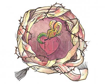 Giclée Print - Sacred Heart and Crown of Thorns by M. McGrath