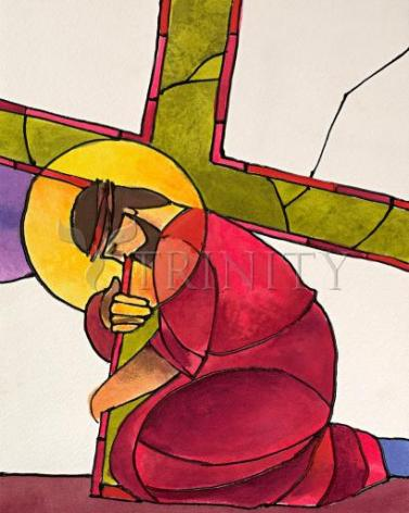 Giclée Print - Stations of the Cross - 3 Jesus Falls the First Time by M. McGrath