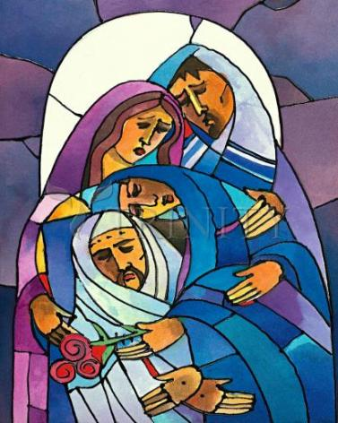 Giclée Print - Stations of the Cross - 14 Body of Jesus is Laid in the Tomb by M. McGrath