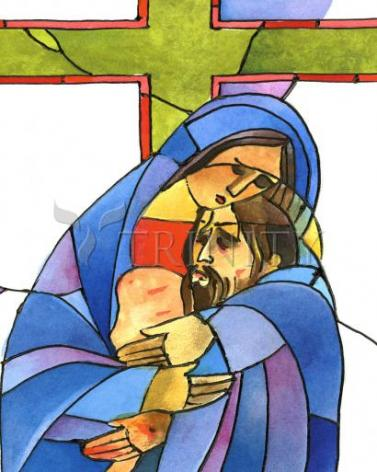Giclée Print - Stations of the Cross - 13 Body of Jesus is Taken From the Cross by M. McGrath
