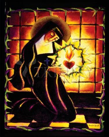 Giclée Print - St. Margaret Mary Alacoque by M. McGrath