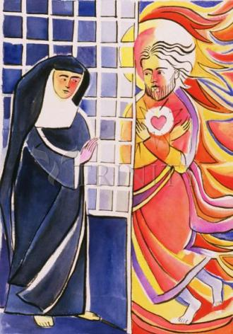 Giclée Print - St. Margaret Mary Alacoque, Cloister by M. McGrath