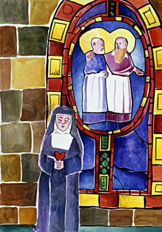 Giclée Print - St. Margaret Mary Alacoque at Window by M. McGrath