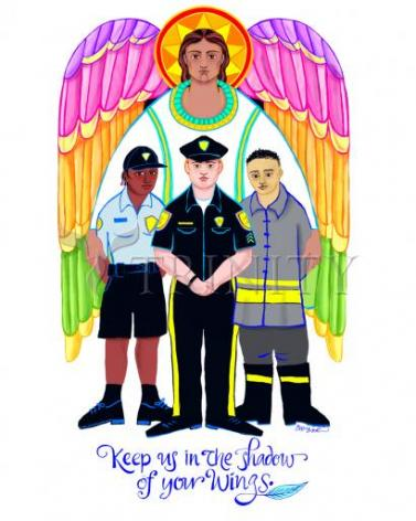 Giclée Print - St. Michael Archangel: Patron of Police and First Responders by M. McGrath