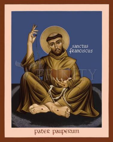 Giclée Print - St. Francis, Father of the Poor by R. Lentz
