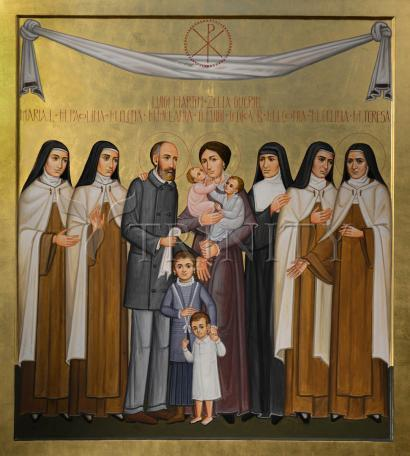 Giclée Print - Sts. Louis and Zélie Martin with St. Thérèse of Lisieux and Siblings by P. Orlando