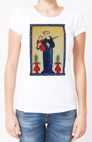 Ladies T-shirt - St. Anthony of Padua by A. Olivas