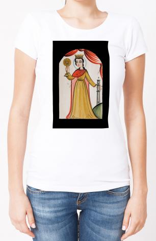 Ladies T-shirt - St. Barbara by A. Olivas