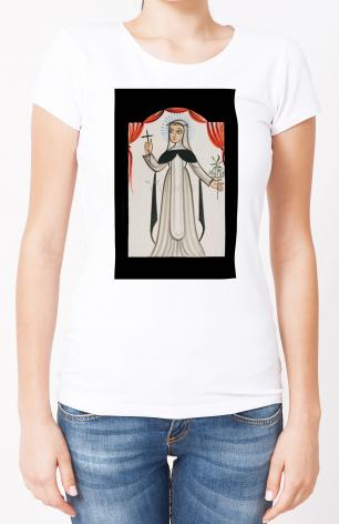 Ladies T-shirt - St. Catherine of Siena by A. Olivas