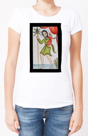 Ladies T-shirt - St. Christopher by A. Olivas