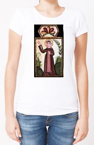Ladies T-shirt - St. Francis of Assisi by A. Olivas