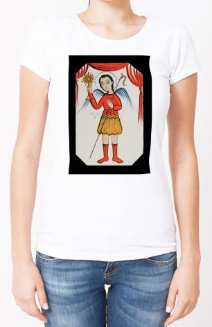 Ladies T-shirt - St. Gabriel Archangel by A. Olivas