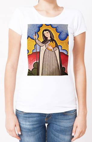 Ladies T-shirt - St. Gobnait by A. Olivas
