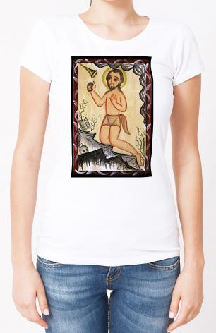 Ladies T-shirt - St. Jerome by A. Olivas