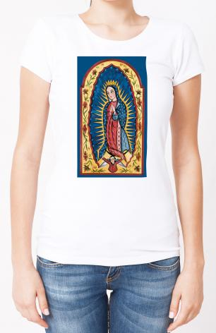 Ladies T-shirt - Our Lady of Guadalupe by A. Olivas