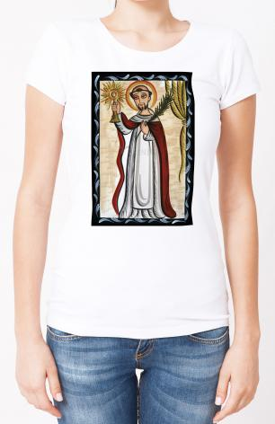 Ladies T-shirt - St. Raymond Nonnatus by A. Olivas