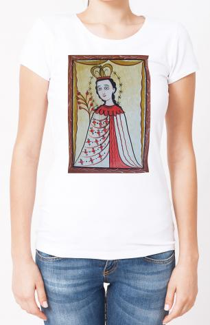 Ladies T-shirt - Our Lady of the Roses by A. Olivas