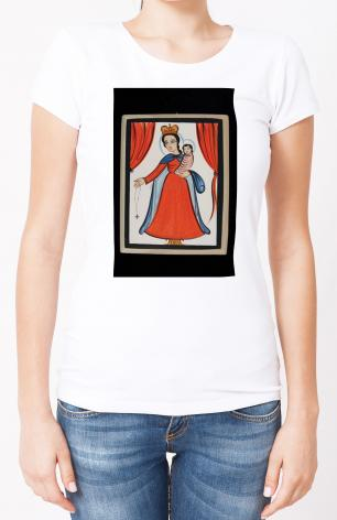 Ladies T-shirt - Our Lady of the Rosary by A. Olivas