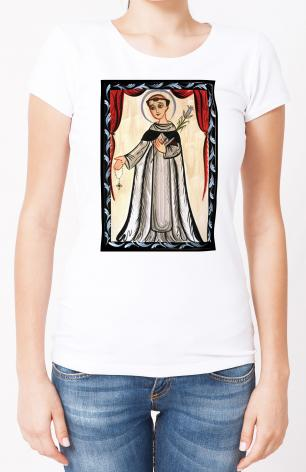 Ladies T-shirt - St. Dominic by A. Olivas