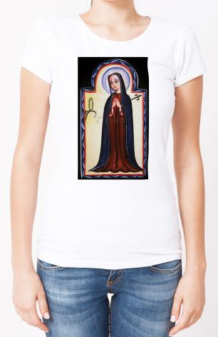 Ladies T-shirt - Mater Dolorosa - Mother of Sorrows by A. Olivas