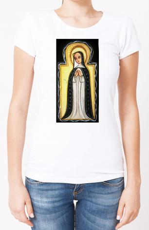 Ladies T-shirt - Our Lady of Solitude by A. Olivas