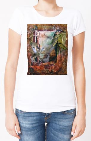 Ladies T-shirt - Faces Amidst Tattered Shroud by B. Gilroy