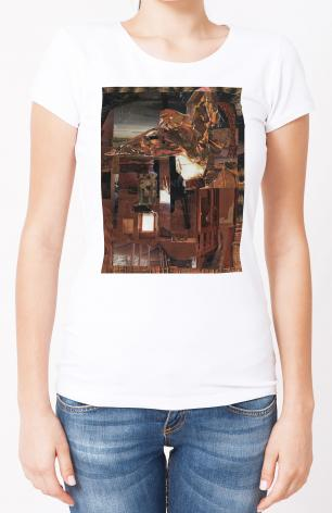 Ladies T-shirt - Eagle Hovers Over Ruins by B. Gilroy