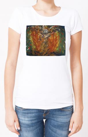 Ladies T-shirt - Eagle in Fire That Does Not Burn by B. Gilroy