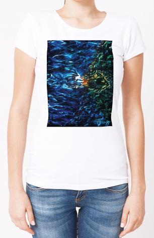 Ladies T-shirt - Fish Fossil by B. Gilroy