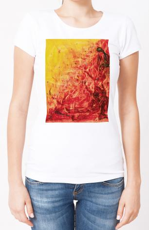 Ladies T-shirt - Figures In Flames by B. Gilroy