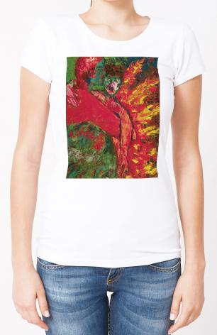 Ladies T-shirt - St. Oscar Romero's Embrace by B. Gilroy