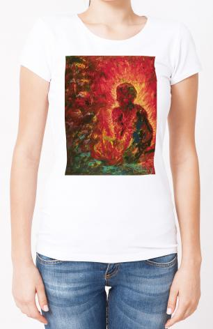 Ladies T-shirt - Tending The Fire by B. Gilroy