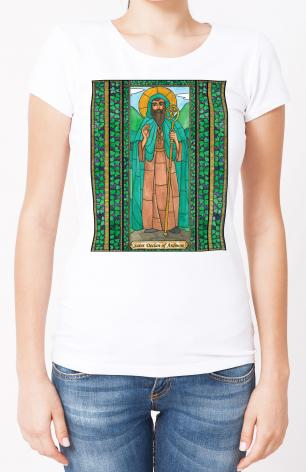 Ladies T-shirt - St. Declan of Ardmore by B. Nippert